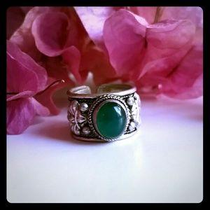 Green Bohemian Ajustable ring